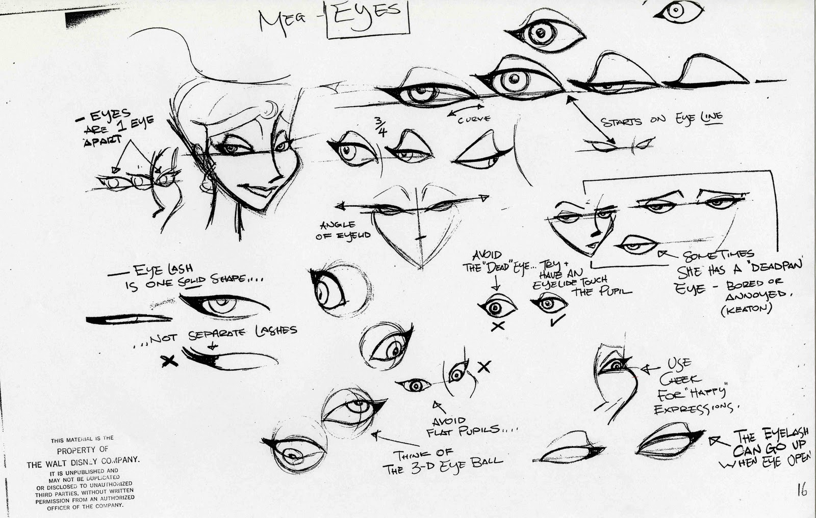 Character Design Notes Spot : Character and creature design notes model sheets part