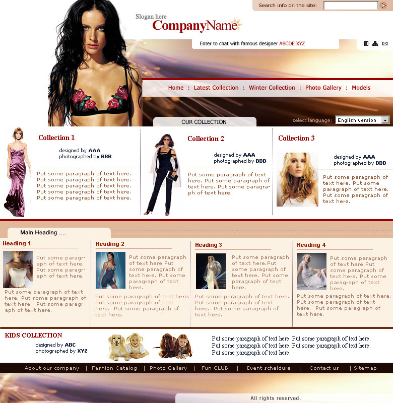 Fashion And Design Fashion Design Templates