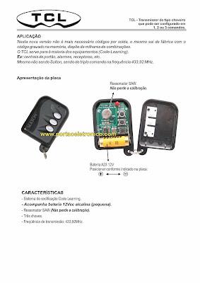 Manual controle remoto alarme sulton