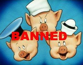 Nanny Bans Three Little Pigs