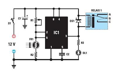 Schema interrupteur crepusculaire 12v