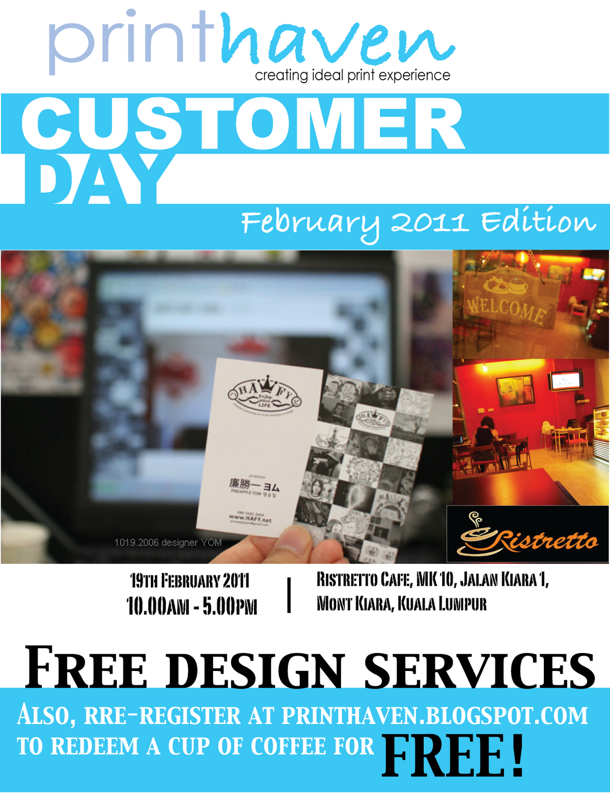 Pre-Registration for PrintHaven Customer Day - Feb 2011 Edition