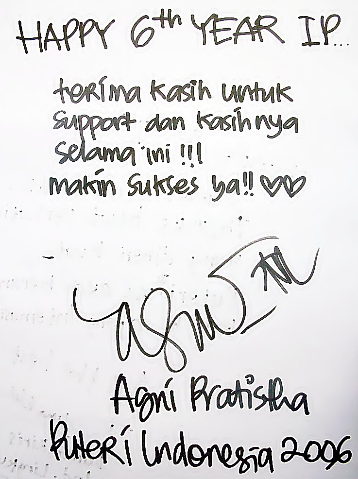 Happy 6th Anniversary Indonesian Pagents Part 7 : From Agni Pratistha