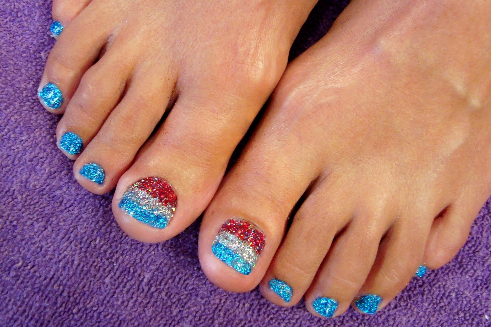 Glitter Toes Colors Two Color Glitter Fade