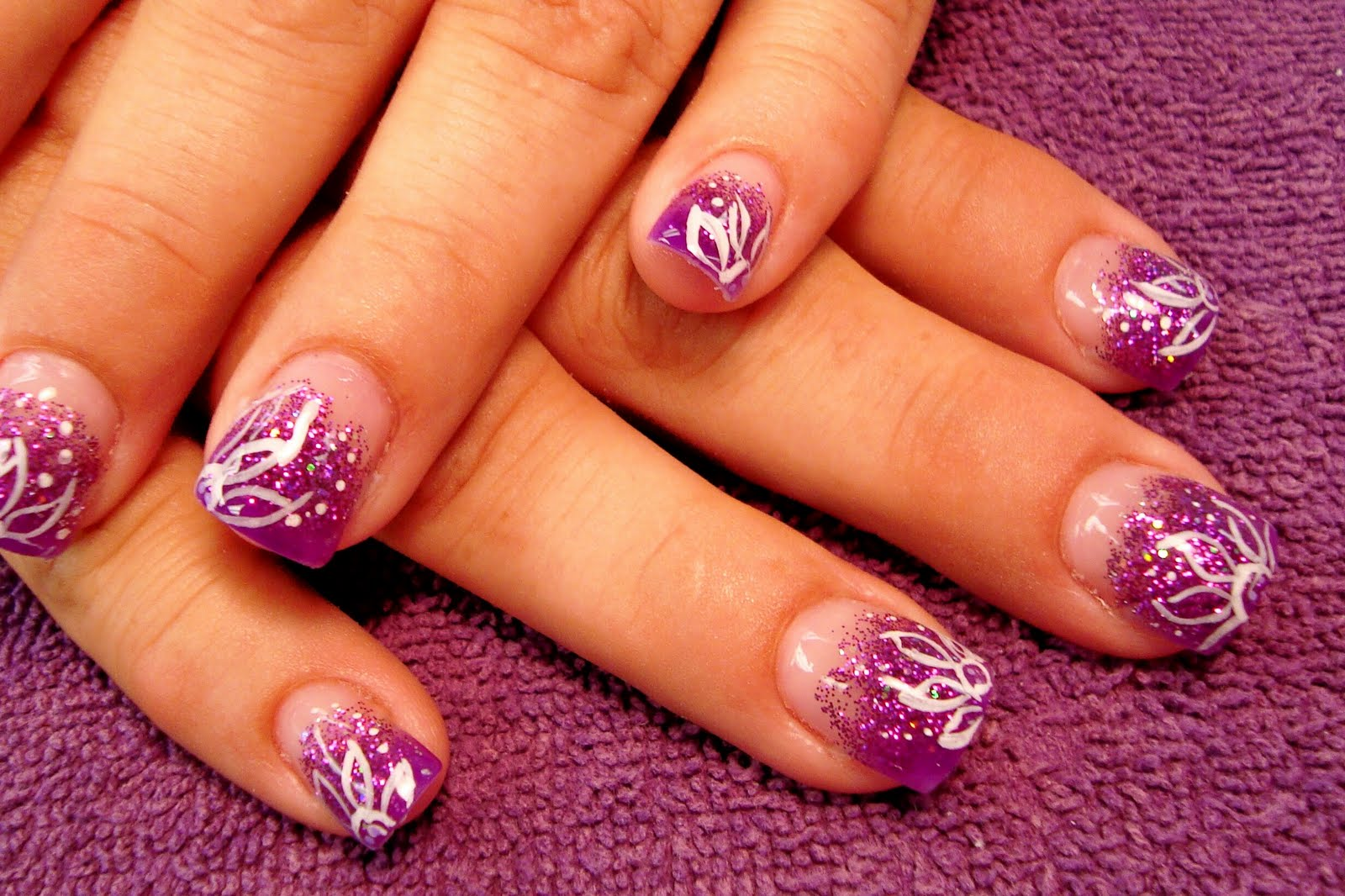 The Purple Pinkie Nail Salon: Bling Week Continued