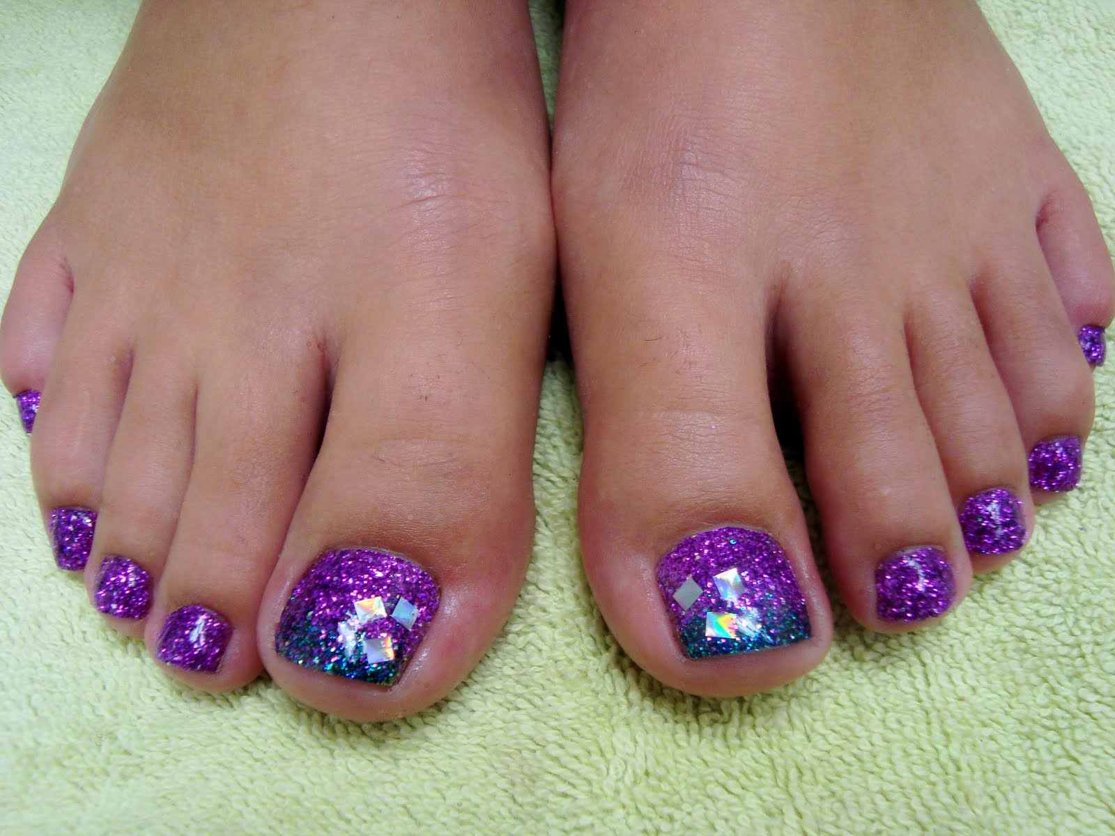 Purple toe nail design pretty purple toes with zebra design toe designs for toe nails view images like website prinsesfo Choice Image
