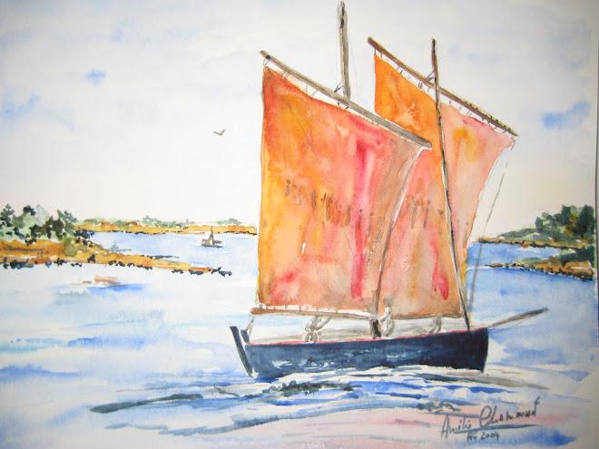 bateau à 2 voiles