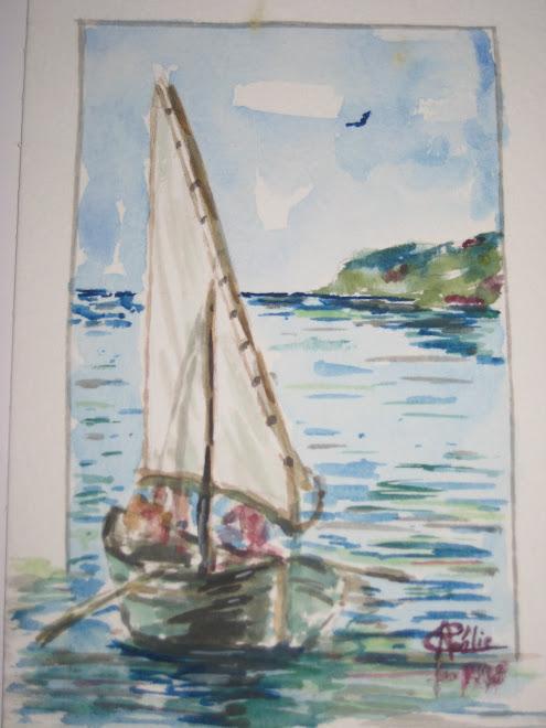barque à voile et rames