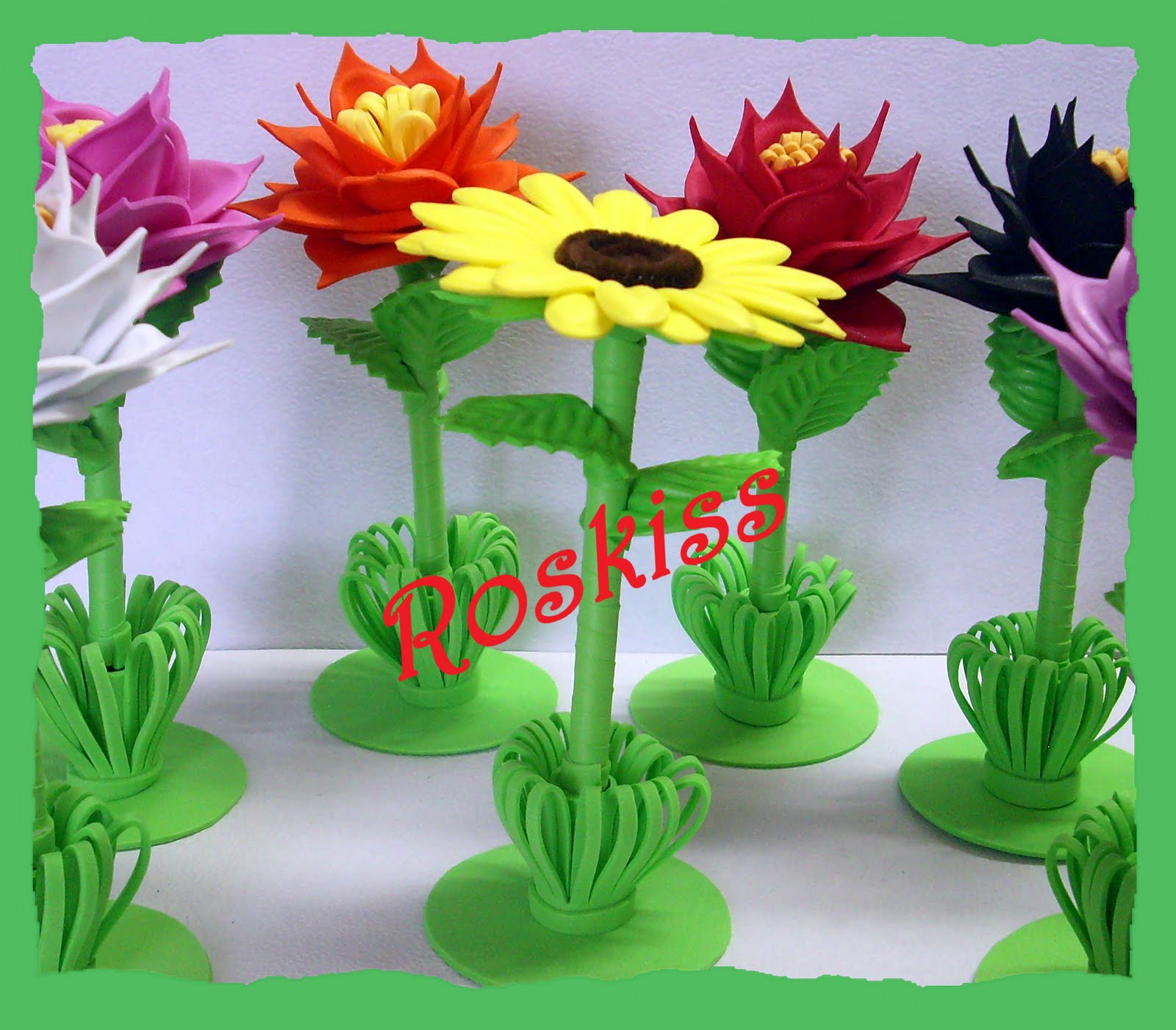 Moldes Para Flores De Foami