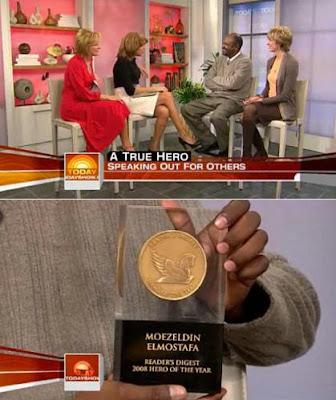 Moezeldin Elmostafa receives Readers Digest 2008 Hero of the Year award