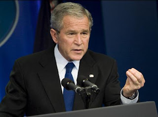 President George W. Bush announces the federal mortgage relief plan