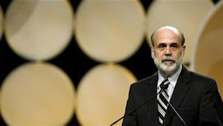 Ben Bernanke speaks after receiving The Citizens of the Carolinas award from the Charlotte Chamber, Nov. 29, 2007