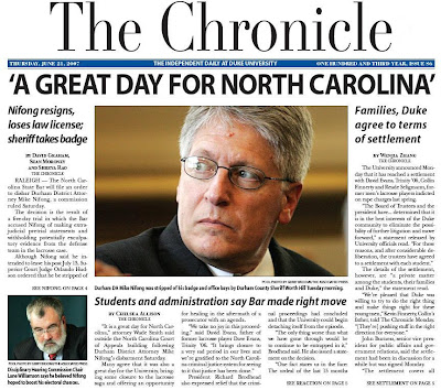 Duke Chronicle: A Great Day for North Carolina