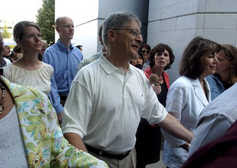 Nifong walks to jail with supporters