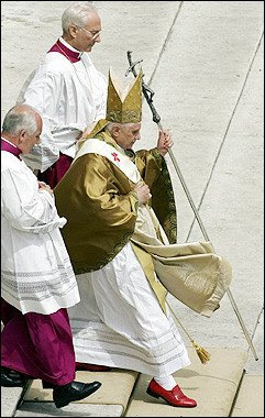 Pope Benedict XVI (16th) wearing his red shoes