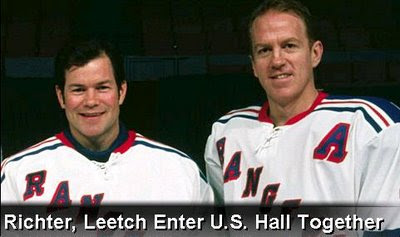 Mike Richter and Brian Leetch Enter U.S. Hockey Hall of Fame Together