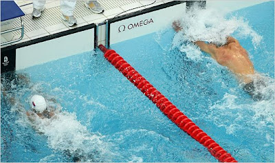Michael Phelps over Cavic by 1/100 photo finish