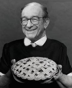 Easy Al: Alan Greenspan won't shut his pie hole
