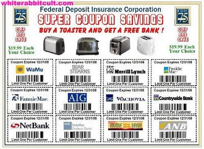 FDIC: Buy a Toaster Get a free Bank - Bank Coupons