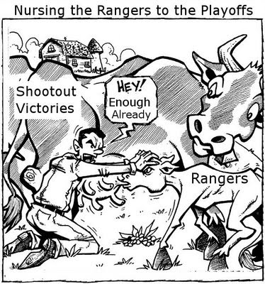 Milking the Shootout Cow: Rangers earn yet another shootout victory