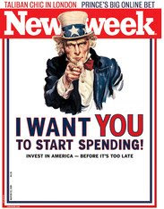 Newsweek cover: I want you to start spending