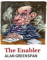 Alan Greenspan: Enabler of the Housing Bubble, the internet bubble...