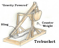 drawing of a trebuchet