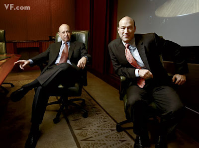 Goldman Sachs C.E.O. Lloyd Blankfein and C.O.O. Gary Cohn, in the boardroom of Goldman's headquarters, in New York City.