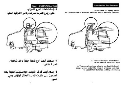 Egyptian protester handbook page 13