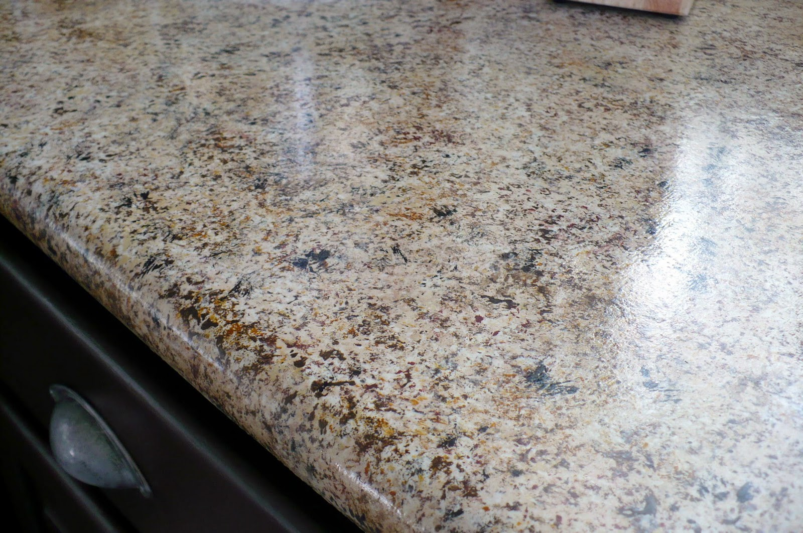 Pretty Lil Posies: Kitchen Cabinets and Faux Granite Q and A