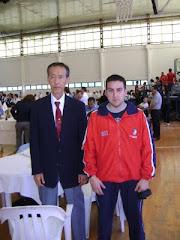 Sensei Yasuyuki Sasaki 8º Dan, junto a Sensei Juan Acevedo