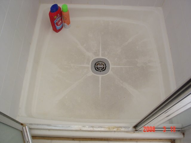 Fiberglass Shower Pan - BEFORE