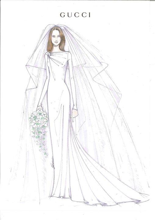 For her wedding dress