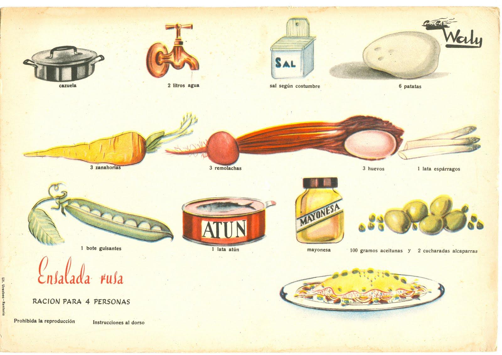 Mi gato es bizco fichas con recetas de cocina a os 50 - Cocinas anos 50 ...
