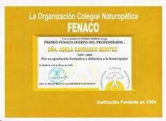 Premio Cuerpo del Profesorado de Naturopatía