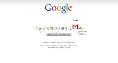 苹果风格的Google首页