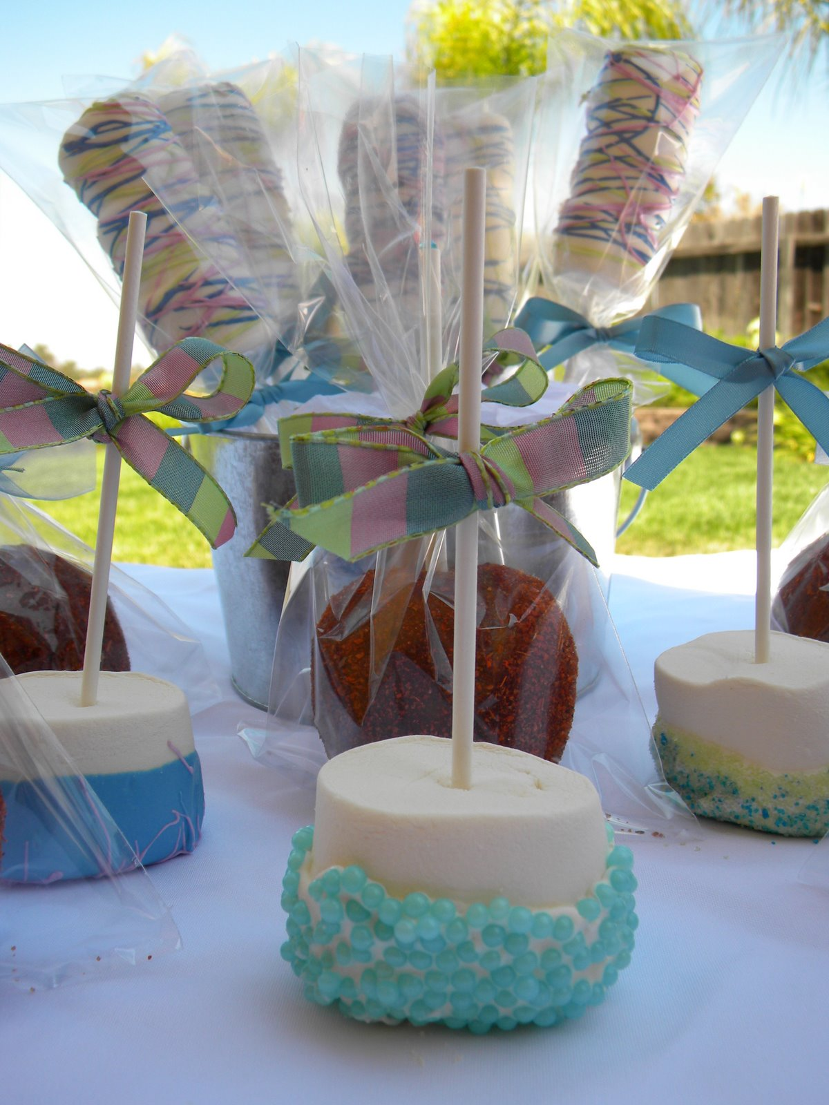 chocolate covered apples for baby shower the