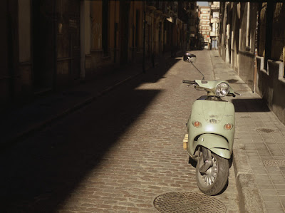 Scooter , Paris. Photograph by Tim Irving