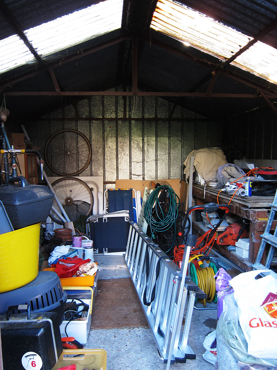 Tim's shed. Photograph by Tim Irving