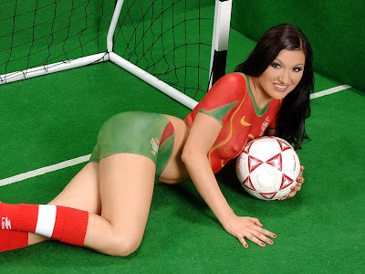 World Cup Soccer Body Paint Pictures