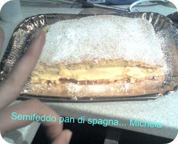 pan di spagna semifreddo mele e crema