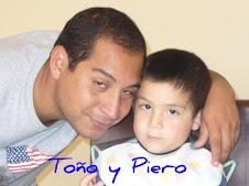 Mi nieto Toño y mi bisnieto Pierito