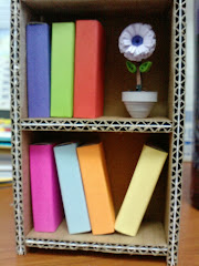 Mini Bookshelf with Flower Pot