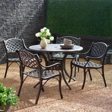 modern living room furniture auburndale cast aluminum patio dining set. Black Bedroom Furniture Sets. Home Design Ideas