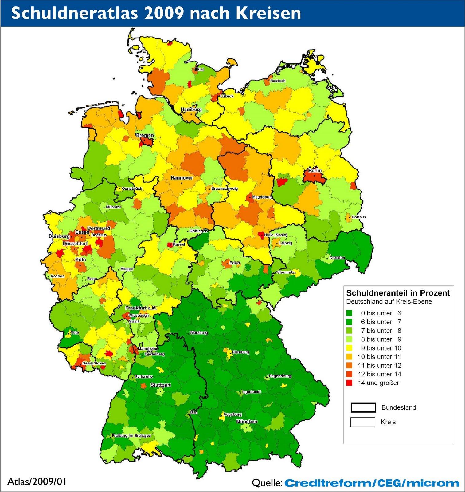 Landkartenblog: Deutschlandkarte zeigt wo und wie man in ... - Atomkraftwerke In Deutschland Karte