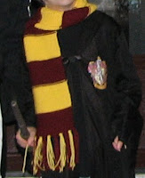 Boo in his Harry Potter scarf