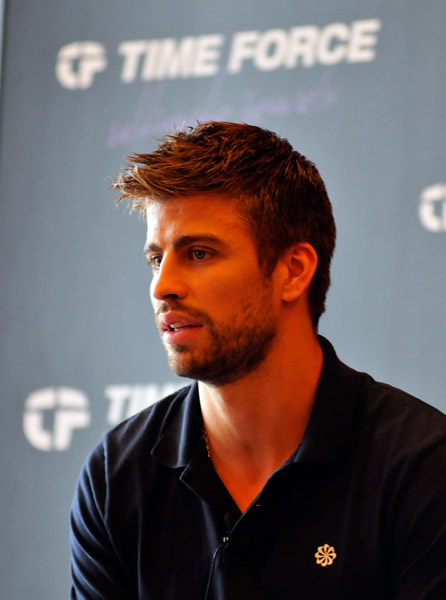 Gerard Pique's press event for Time Force Watches