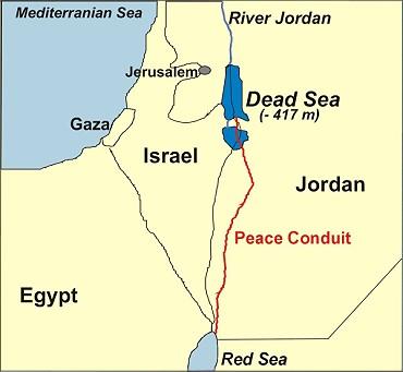 Resultado de imagen de Proyecto canal Mar Rojo Mar Muerto