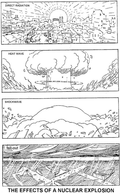 """Here the effects on a city of """"small"""" nuclear bomb, from 1 megaton"""