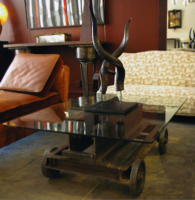 I Am Fond Of Two Very Unique Coffee Tables From Bourgeois Bohème Atelier In  Los Angeles. The Mine Cart Coffee Table, (pictured Above), And The 18th  Century ...
